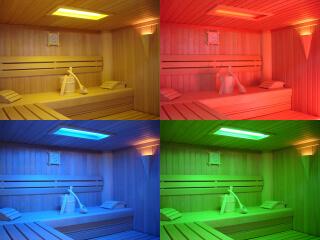 Farben in der Sauna